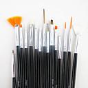 15ks černou rukojetí nail art designu natírání výkres pero štětec set&5ks 2-way tečkování marbleizing nástroje pero