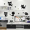nástěnné samolepky na stěnu, černé kočky pvc nástěnné samolepky