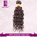 """3pcs / puno 12 """"-30"""" neprerađeni 6a Brazilski djevica čokoladno smeđa rotor ljudske kose, 100% ljudska kosa plete debela&mekan"""