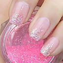 růžový lesk prášek nail art ozdoby