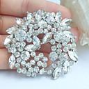 svatební 2.17 palce silver-tone jasné drahokamu křišťálově květ svatební brož přívěsek