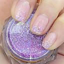 fialové třpytky prášek nail art ozdoby