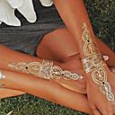 1ks zlato a stříbro náhrdelník náramek tetování dočasné tetování nálepka pokožka tetování blesk tetování stran tetování