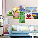 Vizualni STAR® moderne stablo slika tiskana na platnu skupa 8, proljeće / ljeto / jesen / zimu krajobrazne platnu spreman za objesiti