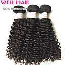 "3 Pcs Lot 12""-30""Peruvian Kinky Curly Wefts Natural Black 1B# Human Hair Curly Bundles Tangle Free"