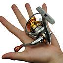 fddl ® mini metal ribolov predenje reel 5 loptica stopa ležaj zupčanika 5,2: 1 s izmjenjivim ručka