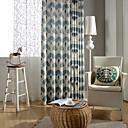 Zemlja curtains® jednoj ploči geometrija pamučna posteljina tisak zavjese drapiranja