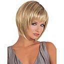 ファッションの女性の女性の短い合成髪はブロンドのミックス毛のかつらをかつら