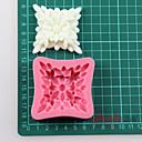 čtverec květina fondant dort čokoládový silikonové formy, dekorace nástroje Pečení