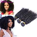 3pcs / Mnogo 8 '' - 26''brazilian djevica kosa prirodno kovrčava crna boja kinky ljudske kose plete