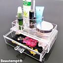 Kutija za šminku Plastična kutija / Kutija za šminku Plastic / Akril Jednobojni Quadrate 18.5 x 11.5 x 11.6 Neocakljen porculan