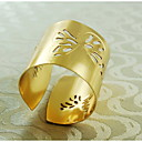 motýl vzor dekorace prsten ubrousku, kov, 1.77inch, sada 12