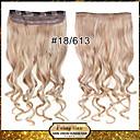 Isječak na kose ekstenzije valovitu isječak na hairpieces 18/613 #
