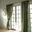 Dvije ploče, vezenje panel zavjese drapes zeleni
