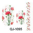 Cvijet/Lijep - 3D Nail Naljepnice - za Prst - 14.5*7.5*0.1