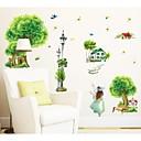 田舎の村緑美装飾的な壁のステッカー