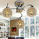 Max40W Flush Mount ,  Modern/Comtemporary Electroplated svojstvo for Crystal Metal Bedroom / Dining Room / Hallway