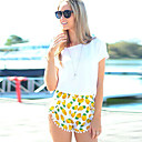 Women's Mid Rise Tassel Shorts , Cotton Beach/Casual/Print Shorts Zhuoxini