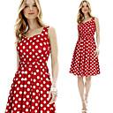 Retro / Ležérní kulatý tvar - Bez rukávů - ŽENY - Dresses ( Směs bavlny )