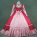 steampunk®19th stoljeća Victorian gotička crvena Lolita prerušiti haljina renesansna faire odjeća
