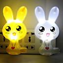 (slučajni boja) skup dva slatka kunića pametni kontrola svjetla dovela noćno svjetlo noć svjetiljka Božić rođendanski poklon