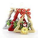 "3pcs / set 20 * 7.5cm / 7.9 * 3 ""mješoviti boje slatka božić snjegović Santa Claus zavjese Xmas Tree Hotel dom"