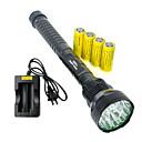 LED svjetiljke LED 5 Način 19000 Lumena Vodootporno / Može se puniti / Otporan na udarce / štrajk oštrica / Taktički / Hitan Cree XM-L T6