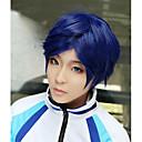 Lanting cos gratis ryugazaki rei blauwe korte cosplay pruik partij anime hair
