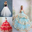 Princeza Haljine Za Barbie lutka Ljubičasta / Smeđa / Bijela Haljine Za Djevojka je Doll igračkama