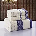 バスタオルセット - コットン100% - ジャカード織 - towel:34*76cm   Bath towel:70*140cm