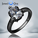 Prstenje Moda Party Jewelry Kubični Zirconia / Pozlaćeni Žene Klasično prstenje 1pc,Univerzalna veličina Crna