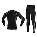 Arsuxeo® Biciklistička jakna s hlačama Muškarci Dugi rukav BiciklProzračnost / Ugrijati / Quick dry / Anatomski dizajn / Antistaticna /