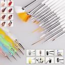 1Nastavte kartáček na nehty nail art designu malba tečkování popisovat pero kartáče svazek Tool Kit set nail styling nářadí (20ks / set)