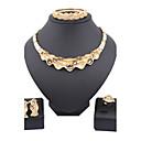 Jewelry Ogrlice / Füllbevalók / Rings / Narukvica Vjenčanje / Party Legura 1set Žene Zlatna Vjenčanje Pokloni
