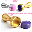 1ks nehty umění tiskové nástroje metal nail těsnění zlatá stříbrná razítko těsnění
