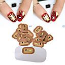 3ks nejnovější styl NFC nehty samolepky s LED světlem blesku připojeno scintillation mobilní telefon DIY Nail Art tipy zdobení