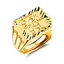 指輪 結婚式 / パーティー / 日常 / カジュアル / スポーツ ジュエリー ゴールドメッキ 男性 バンドリング 1個,調整可 ゴールデン