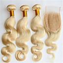 Kosa potke zatvaranje Brazilska kosa Tijelo Wave 4 komada kosa isprepliće