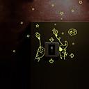 動物 / カートゥン / ロマンティック / ファッション / ホリデー / 風景画 / 形 / ファンタジー ウォールステッカー キラキラ・ウォールステッカー , PVC 24.5cm x 21cm ( 10in x 8in )