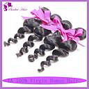 peruánský panna vlasy volně vlna 4ks 1b přirozená barva černá rozšíření lidské vlasy peruánský volná vlna peruánský vlasy