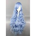 Lolita Wigs Sweet Lolita Modrá Elegantní Lolita Paruky 90 CM Cosplay Paruky Jednobarevné Paruka Pro