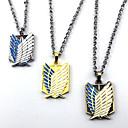 Jewelry Inspirirana Napad na Titanu Cosplay Anime Cosplay Pribor Ogrlice Smeđa / Zlatna / Srebrna Alloy Male