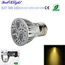 3W E26/E27 LED reflektori A50 3 Visokonaponski LED 300 lm Toplo bijelo Ukrasno AC 220-240 / AC 110-130 V 1 kom.