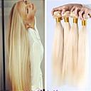 8a russian plavuša djevičansko svežanj kose bavi Brazilski plavuša ravnu kosu tkati 3pcs 613 plave kose ekstenzije