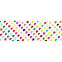 10ks 100cmx4cm barevné tvaru srdce třpytky na nehty fólie nálepku kutilství krása nehty dekorace nálepka stzxk01-49