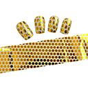 10ks 100cmx4cm zlatý lesk na nehty fólie nálepka kutilství krása nehty dekorace nálepka stzxk01-49