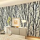 Copaci/Frunze Pozadina Za kuću Suvremena Zidnih obloga , Netkani papir Materijal Ljepila potrebna tapeta , Soba dekoracija ili zaštita za