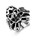 Prsten Nerez Skull shape Punkový styl Módní Stříbrná Šperky Halloween Denní Ležérní Sport 1ks