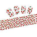 10ks 100cmx4cm srdce a cherry třpytky na nehty fólie nálepka kutilství krása nehty dekorace nálepka stzxk01-49