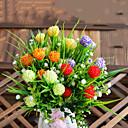 ホームデコレーション1個/セットの5フォークカーネーションの花シルクフラワーシルクフラワー造花